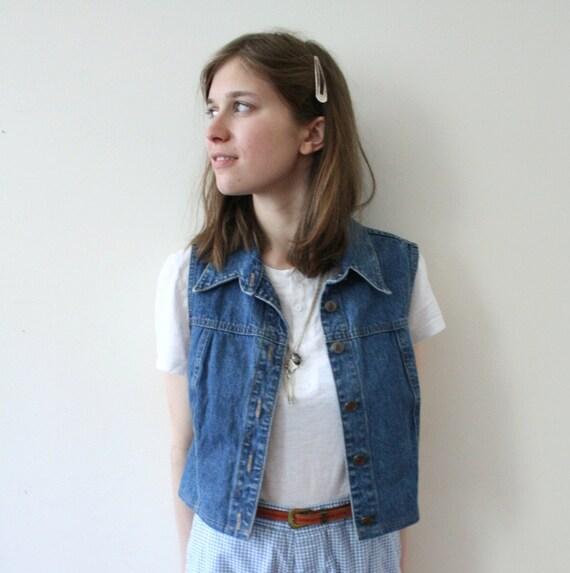 Vintage 90s Teen Dream Denim Blue Jean Vest