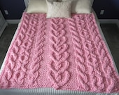 "He Loves Me ""Knot"" Blanket - Pattern Only - permission to sell what you make"