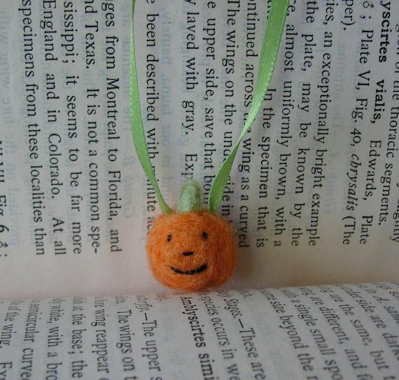 RESERVED Teeny Tiny Pumpkin Ribbon Necklace