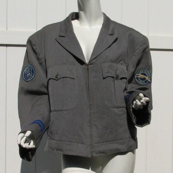 Vintage Greyhound Lines Bus Driver Jacket Uniform