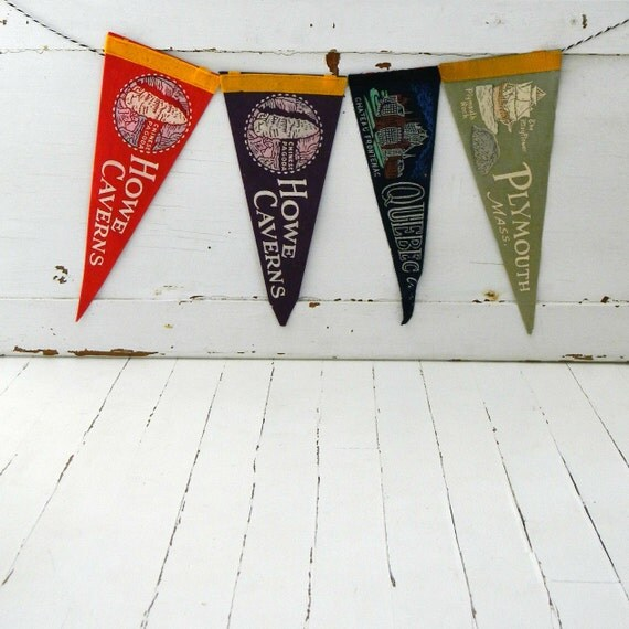 vintage pennants instant collection