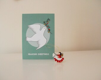 Dove Olive Branch Christmas Card