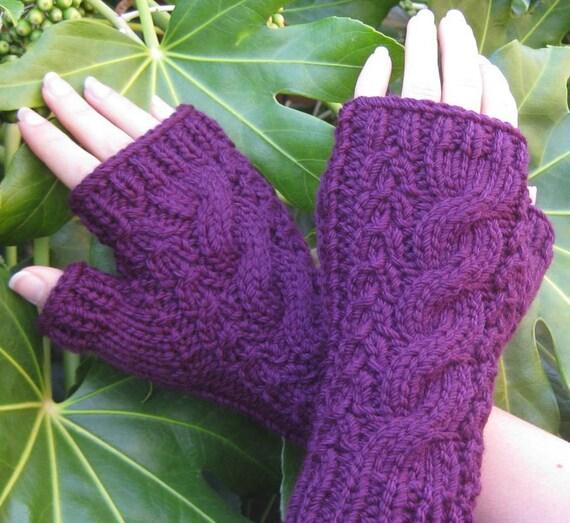 Little Purple Gloves - Knit Fingerless