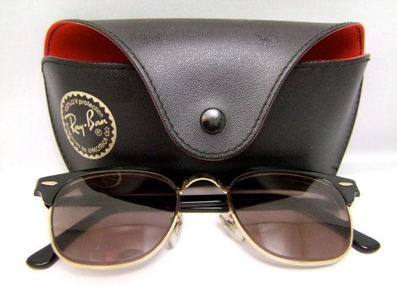 RAY BAN Clubmaster Vintage Bausch and Lomb  Sunglasses USA with case
