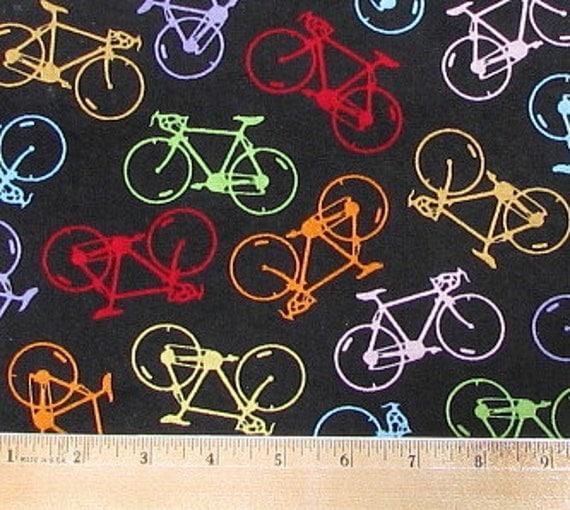 Bicycle Print Fabric ...100% Premium Cotton ...Fabric Fat