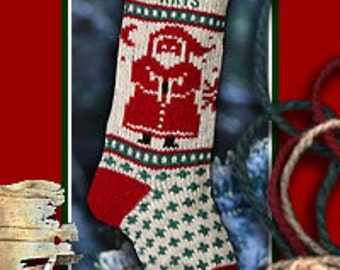 Knitted SANTA Christmas Stocking Personalized Christmas Stockings