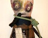 Creepy Rag Doll - Hugo- Monster Doll- RESERVED FOR KAY