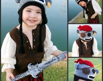 LSBV Pirate Sock Monkey Hat Multiple Sizes Available