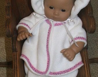 Fleece snow suit fits bitty baby