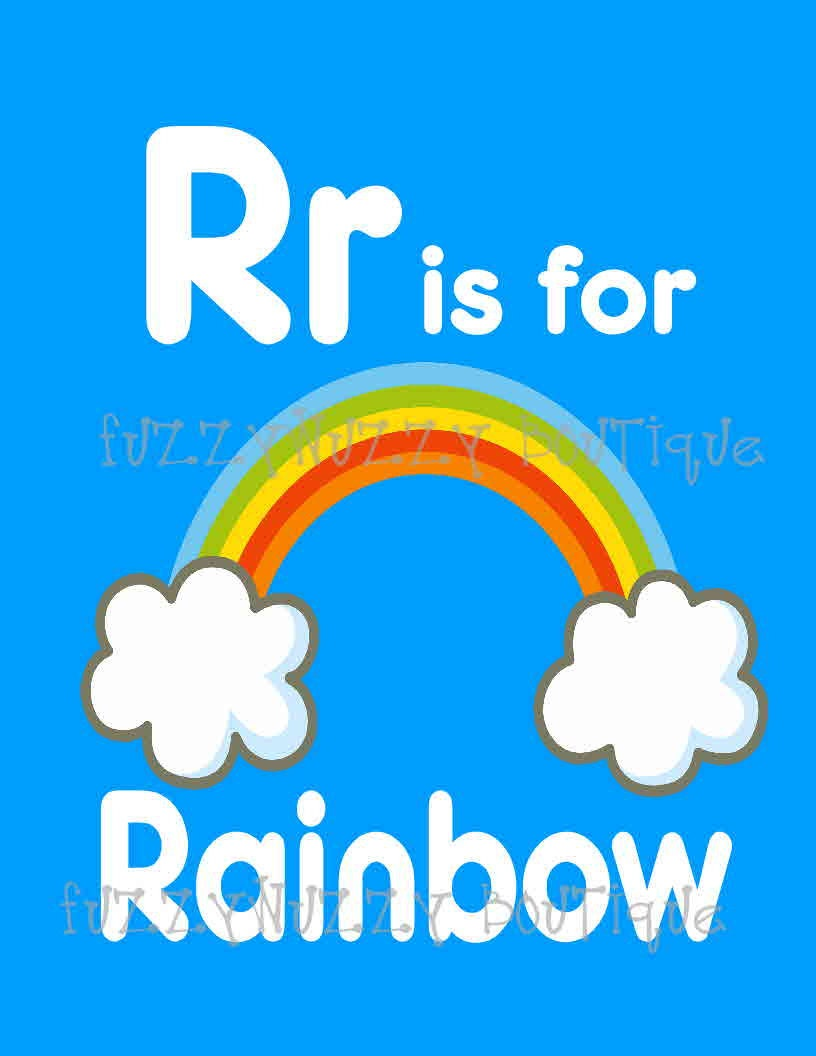 R Is For Rainbow Printable Children 39 S Room By