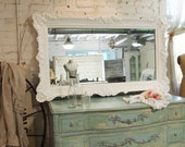 Painted Cottage Chic Shabby Romantic Mirror MR325