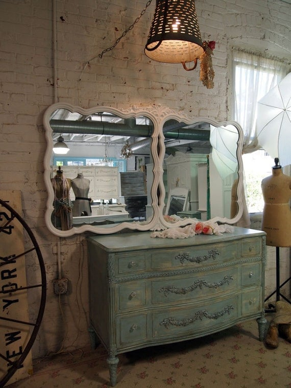Painted Cottage Chic Shabby Romantic Mirror MR326