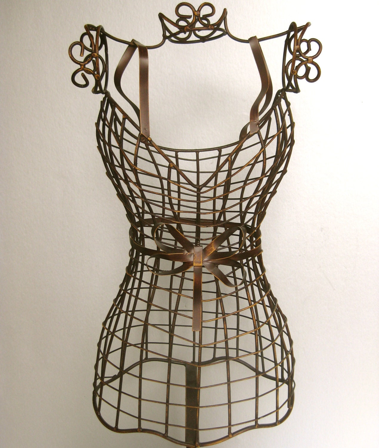 Vintage Mannequin Wire Form Dress Mannequin Brown Decor