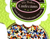 Halloween Mix Non Pareils Sprinkles for Cupcakes, Cookies, Cake Decorating (LARGE JAR)