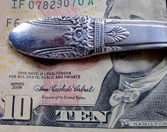 Money Clip Vintage Silverplate silverware money clip