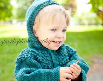 Child Hooded Sweater, Cardigan Sweater Size 6 Months, Toddler Wool Sweater, Sweater Size 12 Month, Hooded Sweater Size 2, Cardigan Sweater
