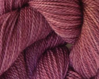 Merino Wool Yarn Lace Weight in Plum Pie Hand Painted Pink