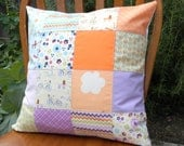 Patchwork Pillow Cover - Dress Up Days - Riley Blake Designs - Purple, Orange, Blue