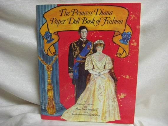 Vintage Princess Diana and Prince Charles Original Uncut Paper Doll Pattern Book  From Perigree Books 1980's