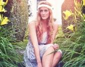 Ruffles and Lace Headband - White