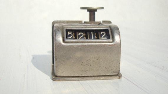 Vintage 40s Industrial Clicker Counter
