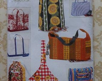 Tote bags Sewing Pattern UNCUT Butterick 4365 totebag tote bag