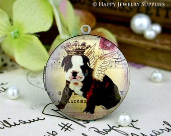 New Technology - 1pcs 33mm (PL-33-263) Handmade Antique Bronze Brass Photo Locket Pendant / Charm