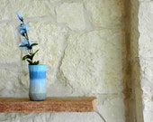 Blue and Gray Vase / powder blue vase / Beach House inspired / Handcrafted Vases