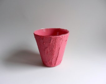 Pink Pencil Holder / Pen cup / Pink office decor / Pink Decor