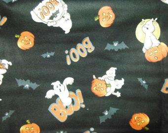 Halloween Fabric Ghosts n pumpkins... HARD Find--Low Price--Last Piece