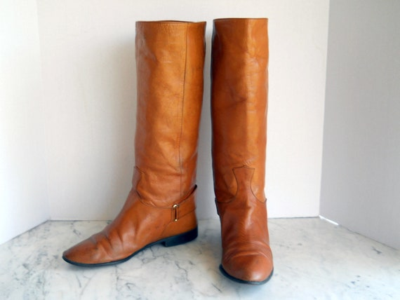 Zetagi Equestrian Riding Boots // Ladies Caramel Leather 8