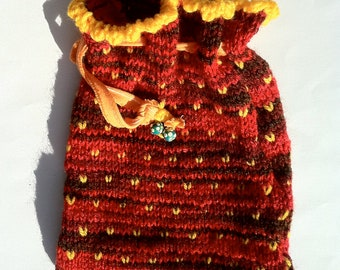 Red Knitted Gift Bag