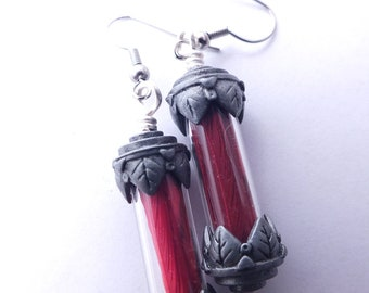 Final Fantasy Phoenix Down Earrings, Pewter Finish