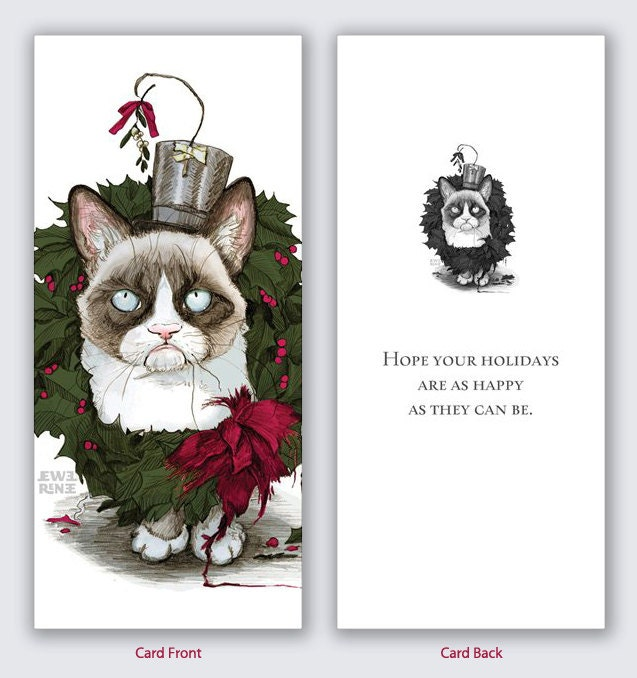 grumpy cat christmas cards