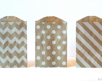 25 Mini Kraft Bags Mini Paper Bags 2.75 x 4 Pack of 25 Wedding Favor Bags Packaging