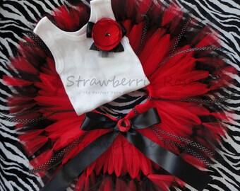 Ladybug Birthday Tutu Dress Outfit, Baby Girls Birthday Tutu Dress Set