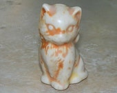 Vintage Kitty Cat Figurine Porcelain Ceramic Kitten