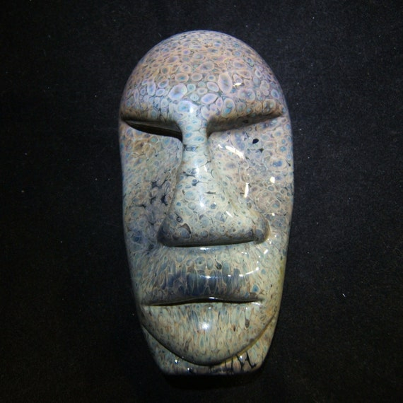 Glass Pipe Easter Island Statue by Fireworx Glass