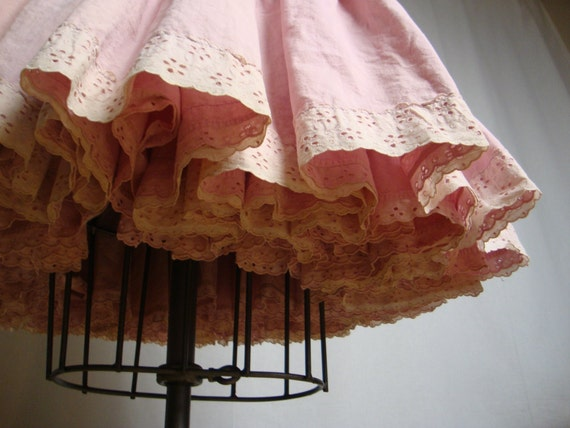 Pink Muslin Petticoat Skirt From The Twentieth Century Fox Costume Department with Label