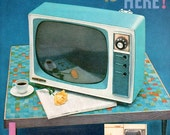 vintage turquoise television 1958 advertisement