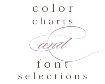 Color Chart / Font Selections