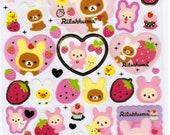 San-X Rilakkuma Bear Sticker Sheet - Bunny Theme - A