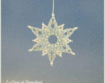 Macrame snowflake