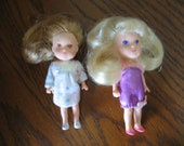 Lot of 2 Kenner KPT Wish World Kids Dolls - 3 1/2 inches tall