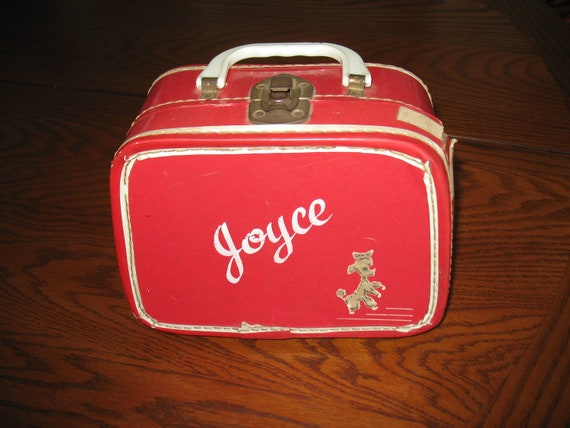Vintage Red Doll Suitcase - Poodle and Joyce
