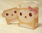 Cute Monkey Giftbox Printable PDF