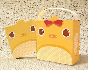 Cute Chick Giftbox Printable PDF