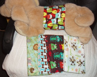 "Male Dog Diapers set of 5, 18-19"" waist"