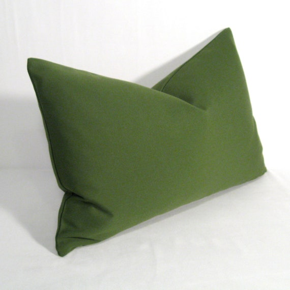 Olive Green Outdoor Pillow Cover, Decorative Throw Pillow Case, Moss Green, Palm Green Sunbrella ...