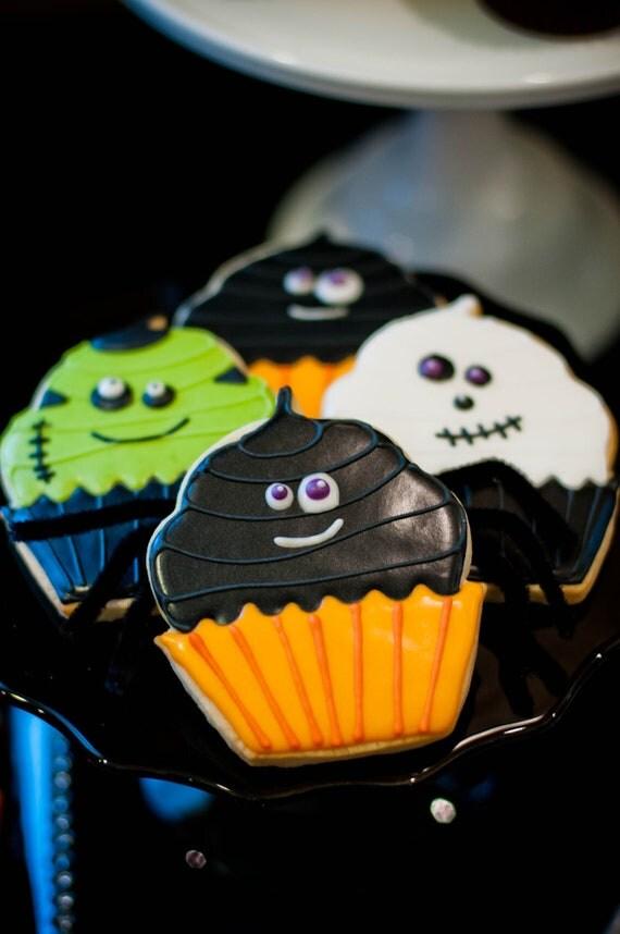 Halloween Little Monsters Cupcakery - one dozen cookies